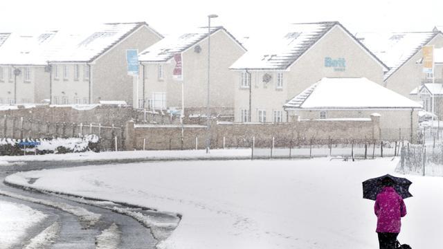 Sneeuw volgt op warmterecord in Schotland