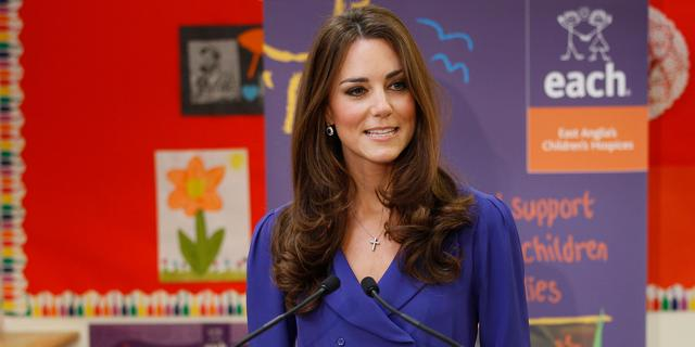 Wassen beeld Kate Middleton in Amsterdam