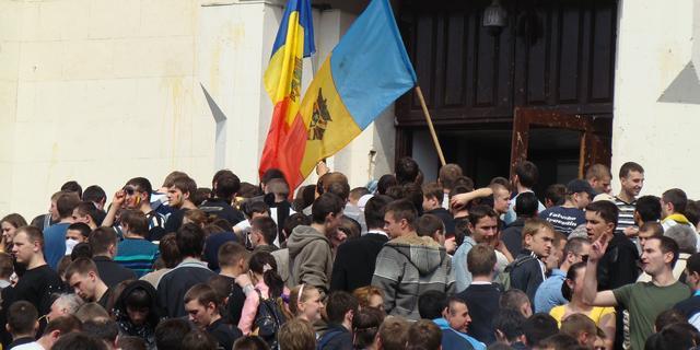 Betoging tegen pro-Europese regering Moldavië