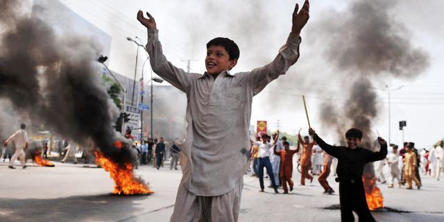 Opnieuw protesten tegen anti-islamfilm- en cartoons