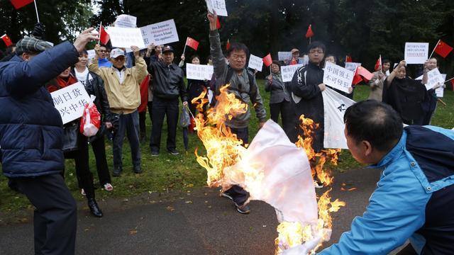 Tientallen Chinezen vast na rellen tegen Japan