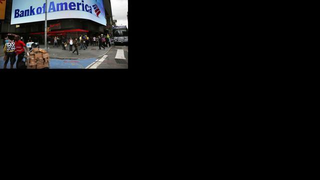 'Bank of America schikt voor recordbedrag'