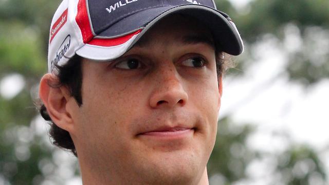 Formule 1-coureur Bruno Senna loopt brandwonden op