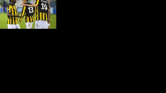 Bony redt met drie goals punt voor Vitesse tegen Heerenveen