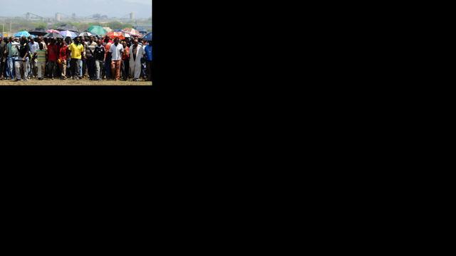 Mijnwerkers protesteren tegen ontslag