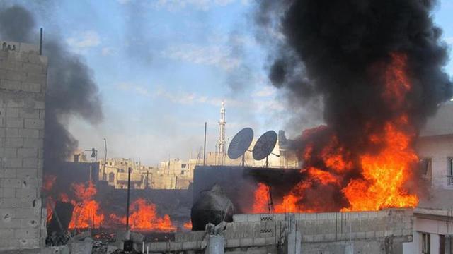 'Syrië bombardeert vluchtweg naar Libanon'
