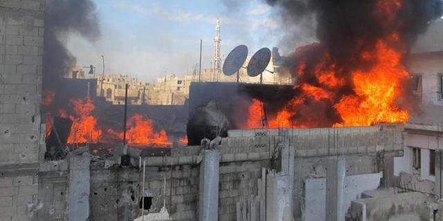 Veel luchtaanvallen in noorden Syrië