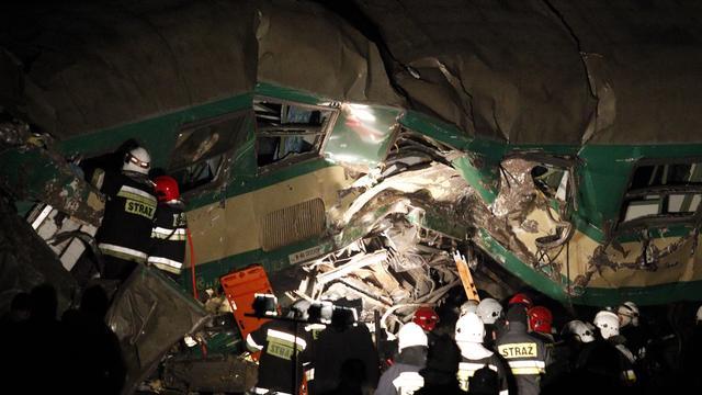 Doden en gewonden door treinbotsing Polen