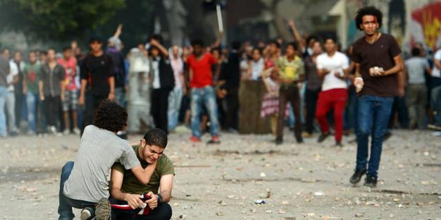 Zeker honderd gewonden bij botsingen in Egypte