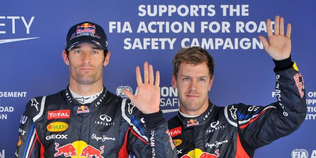 Webber pakt pole in Zuid-Korea