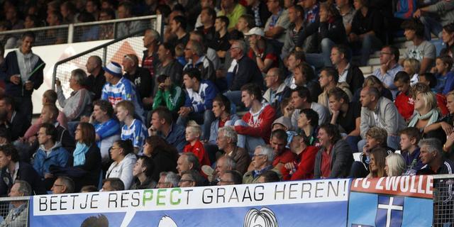 KNVB straft PEC Zwolle voor spreekkoren