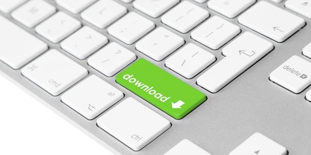 Downloadverbod voor particulieren van de baan