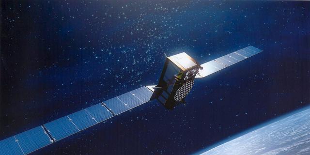 Popart-kunstwerk op satelliet