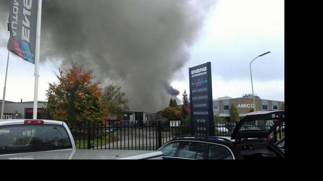 Brand in houtbedrijf Winschoten