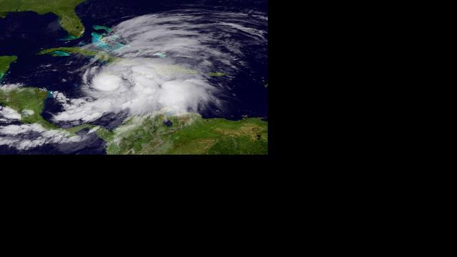 Jamaicanen zonder stroom door orkaan Sandy
