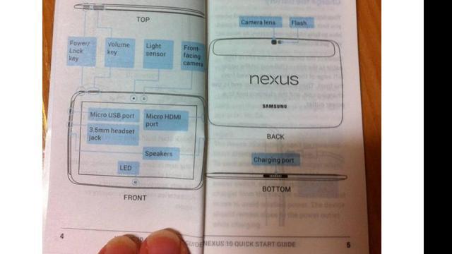Gelekte handleiding wijst op Samsung Nexus 10