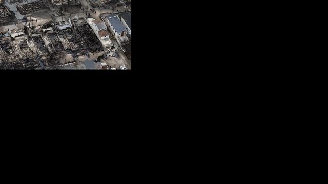 Sandy vernielt olietank kust New Jersey