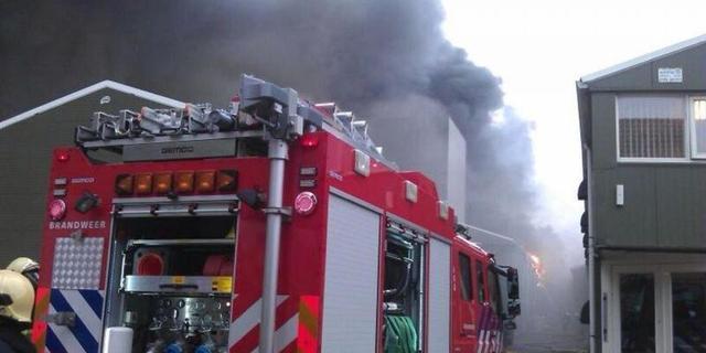 Grote brand bij bedrijf Hoogerheide
