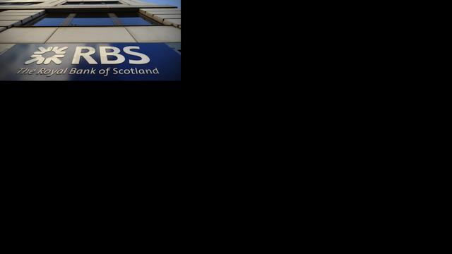 RBS zakt verder in het rood
