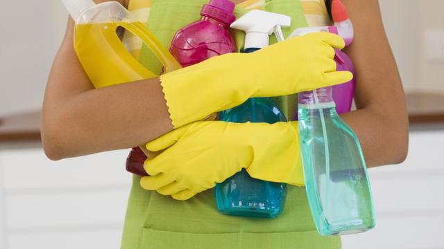 Vaak irritatie door chemische schoonmaakmiddelen