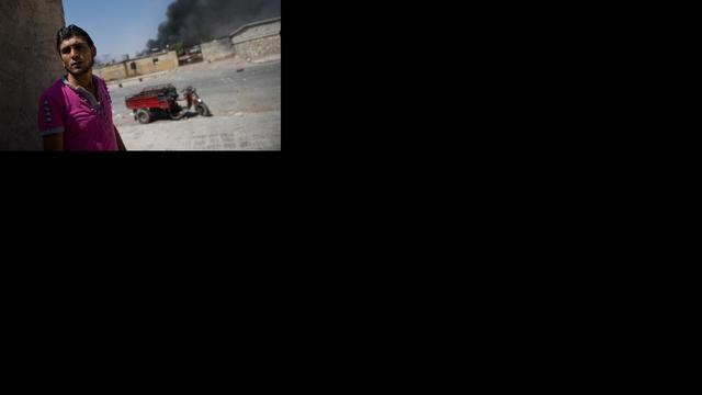 Luchtmacht Syrië bombardeert fabriek