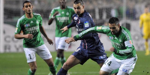 Saint-Etienne kegelt Paris Saint-Germain uit beker