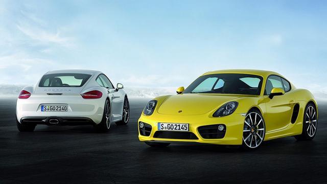 Porsche Cayman gelekt