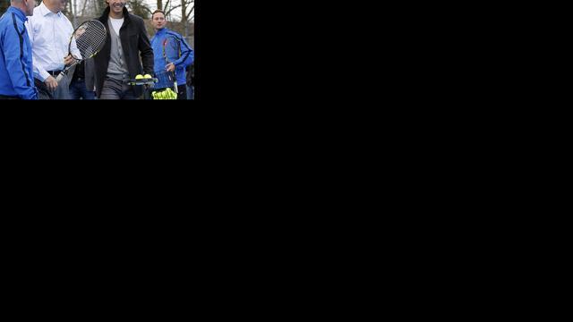 Nadal positief over herstel bij opening playground in Rotterdam