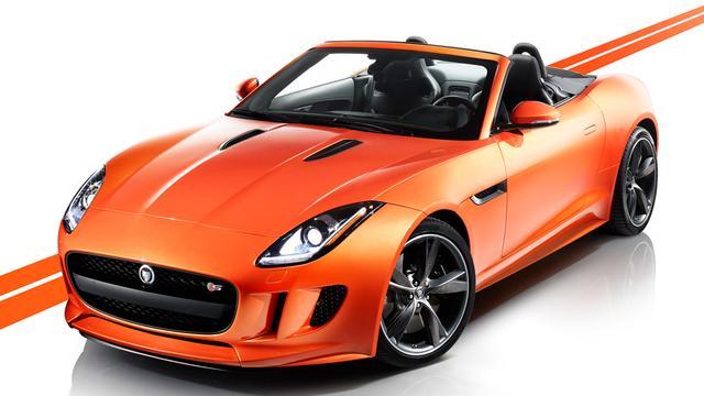 Jaguar F-type in Firesand