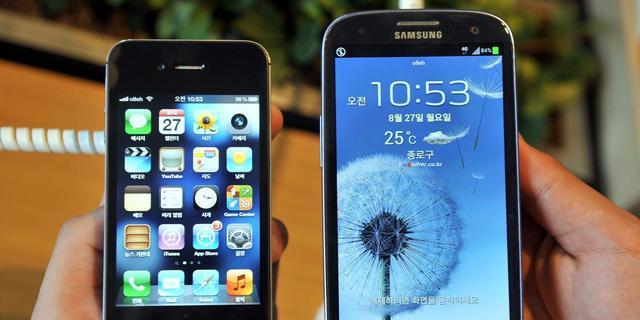Apple en Samsung in nek-aan-nekrace rond 'slimme apparaten'