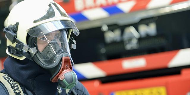 Brandweerman vast voor branden Appingedam