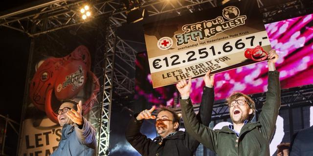 Recordbedrag Serious Request van ruim 12 miljoen euro