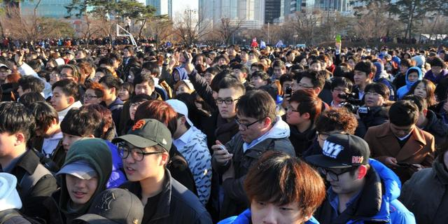 Vooral mannen bij Zuid-Koreaanse massa-speeddate