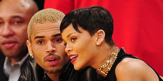 Rihanna en Chris Brown samen naar sportwedstrijd