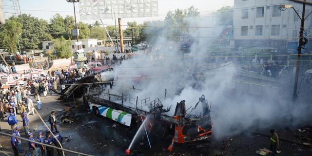 Doden door aanslag op bus Pakistan