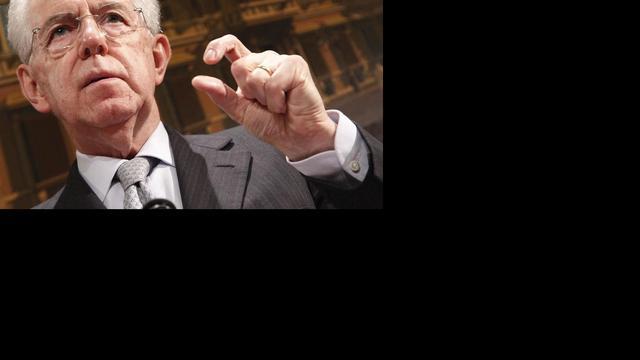 Monti presenteert nieuwe politieke beweging