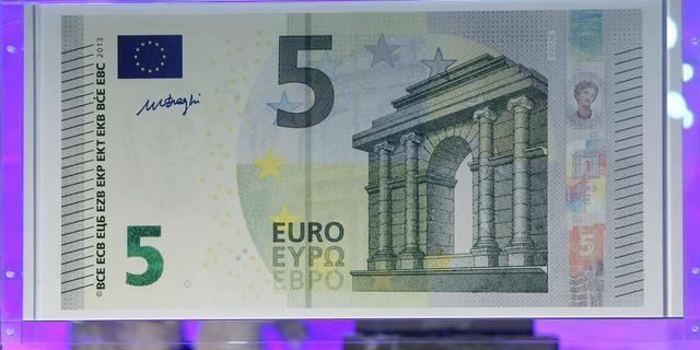 Nieuw vijfeurobiljet vanaf 2 mei in omloop