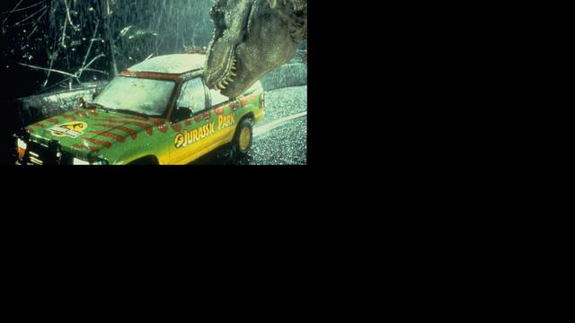 Muziek eerste Jurassic Park-film uit op vinyl in dinosauruskleuren