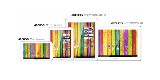Archos introduceert Titanium-tabletserie
