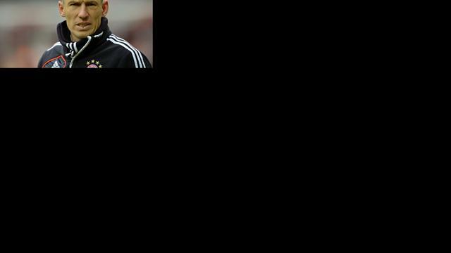 Guardiola spaart Robben voor duel met Real Madrid