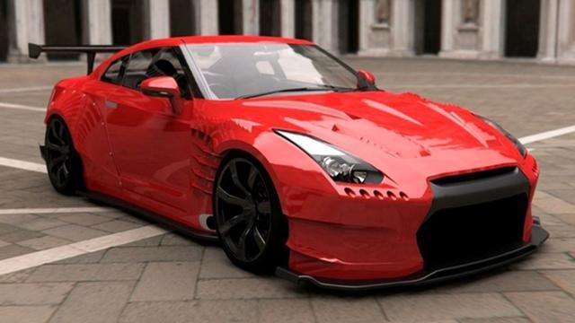 Opgefokte Nissan GT-R
