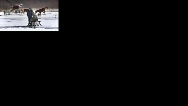 Geen enkele vis gevangen tijdens NK ijsvissen