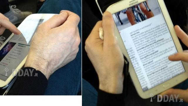 Foto's Galaxy Note 8.0 duiken op