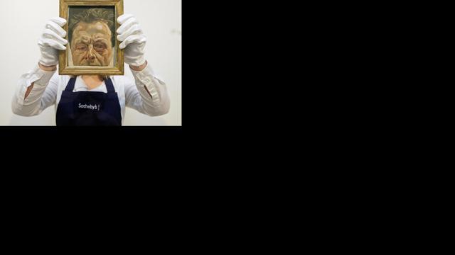 Lucian Freud bedankt Britten postuum