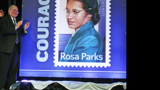 VS eren Rosa Parks met postzegel