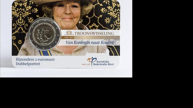 Euromunt verenigt Willem-Alexander met Beatrix
