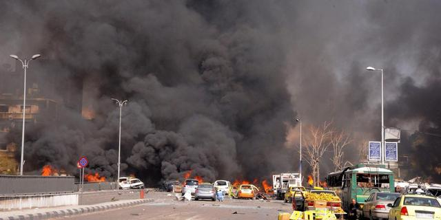Enorme explosie in Damascus