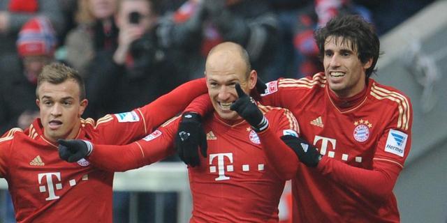 Robben scoort voor swingend Bayern München
