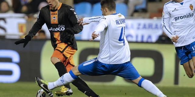 Valencia verliest punten in Zaragoza