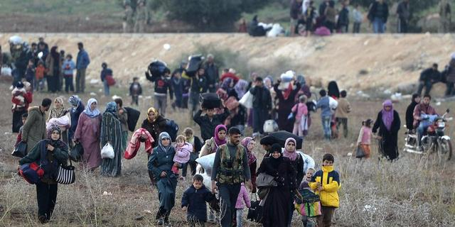 Rellen onder Syrische vluchtelingen